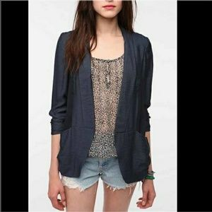 Silence + Noise Navy Relaxed Drapey Blazer Size M